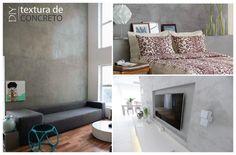 DIY – Parede com textura de Concreto