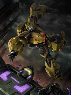 Autobot Bumblebee (Cybertron Version) Artwork From Transformers Legends Game