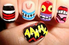 Ahh! Real Monsters nails