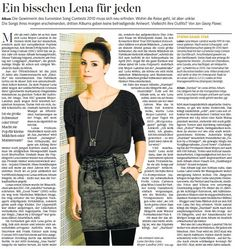 On Lena Meyer-Landrut's new album and her public image (2012)