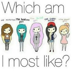 Which am I most like?   I think i'm more like the hipster. ☆ - @fashfame- #webstagram