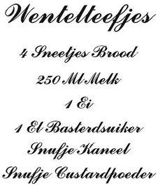 wentelteefjes   Muurstickers interieurstickers keuken / recepten  