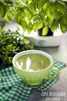 Zupa brokułowa - dieta dr Dąbrowskiej Cream Soup, Vegan Vegetarian, Health And Beauty, Vegan Recipes, Food And Drink, Health Fitness, Smoothie, Healthy Eating, Yummy Food