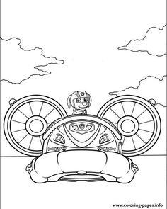 Print paw patrol zuma pilot a plane coloring pages