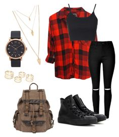 """""""school style"""" by angie-9600 on Polyvore featuring Rails, Topshop, Converse, Wilsons Leather, Forever 21 i Marc by Marc Jacobs"""
