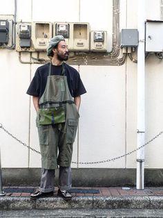 男のエプロン 40's military fabric オランダ軍ポケット add pocket サ