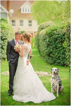 wedding on osea island with Harry the Dalmation. Www.kerriemitchell.co.uk