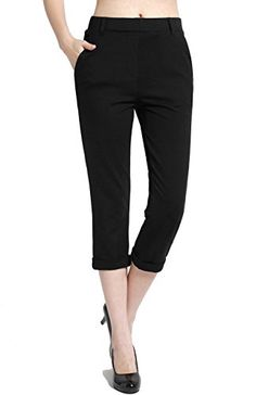 New Trending Pants: BodiLove Womens Pull On Performance Formal Dress Capri Pants Black M. BodiLove Women's Pull On Performance Formal Dress Capri Pants Black M Special Offer: $25.00 199 Reviews Now you can go to work in a pair of Knee Length Performance Formal Dress Side Pocket Skinny Pants and then work out in the same pair of stretchy yoga pants. These Knee Length...