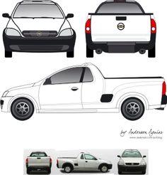 Chevrolet Montana Vetorizada!!!