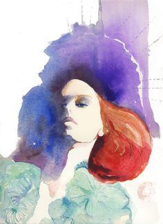 Moncler Gamme Rouge | Cate Parr #watercolor #illustration