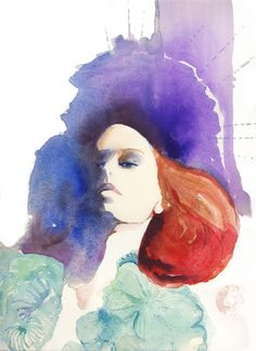 Moncler Gamme Rouge | Cate Parr #watercolor #illustration