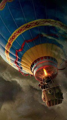 """mystic-revelations: """" The Wizard of Oz Source """" Air Balloon Rides, Hot Air Balloon, Desktop Background Images, Air Ballon, Wizard Of Oz, Mobile Wallpaper, Beautiful World, Oz Tattoo, Gorgeous Movie"""