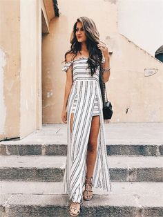 Stripes and white for summer!
