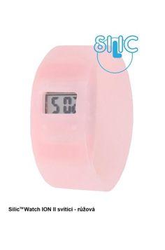 Silic Watch ION II svítící - růžová