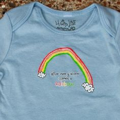 After Every Storm Comes a Rainbow Onesie