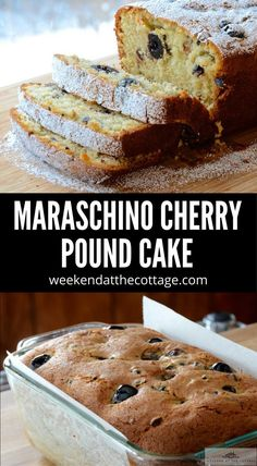 This MARASCHINO CHERRY POUND CAKE is a rich, dense cake with a slight crumb. Serve it for dessert, send it to school in the kids lunchbox, or as an afternoon coffee break. Pound Cake Recipes, Pound Cakes, Cookie Desserts, Dessert Recipes, Cherry Cake, Sweet Bread, How To Make Cake, Coffee Break, Sweet Tooth