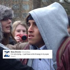 AHAHA poor little beau. <3