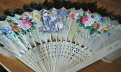 Antique Asian Peacock Feather Carved Bone Fan by ThePaintFactory, $150.00