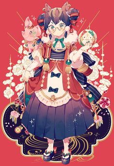 HAPPY NEW YEAR! Beautiful Drawings, Cute Drawings, Kawaii Anime, Kawaii Art, Manga Anime, Robot Illustration, Robot Art, Robots, Anime Art Girl