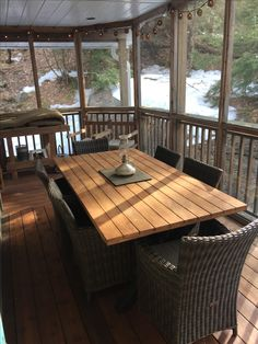 An Unforgettable Cottage Vacation Awaits with Muskoka Cottages by Marlene Private Bay, Outdoor Tables, Outdoor Decor, House With Porch, Porch Lighting, Porches, Joseph, Cottage, Patio