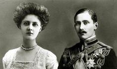 1912 CIRCA. IL PRINCIPE ARTURO DI CONNAUGHT 1883-1938 CON LA FIDANZATA ALESSANDRA DUCHESSA DI FIFE.