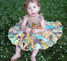 patchwork circle skirt dress. I'm not sure I can have a daughter without making her this dress.