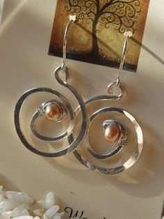 One of a kind earrings hand forged fine by EarthCreationsbyT, $16.00