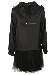 MOSCHINO TULLE HOODIE DRESS. #moschino #cloth #