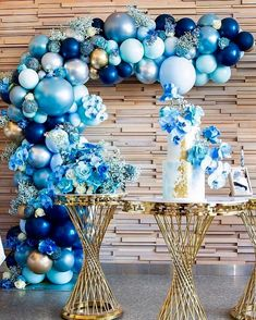 Image may contain: indoor Deco Baby Shower, Boy Baby Shower Themes, Baby Shower Balloons, Baby Boy Shower, Blue Party Decorations, Birthday Balloon Decorations, Birthday Balloons, Baby Shower Decorations, Balloon Columns