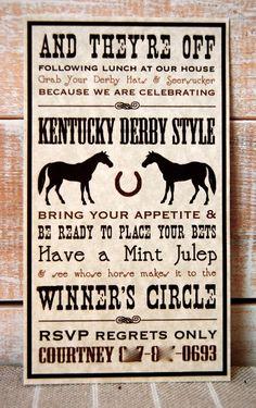 Beth Kruse Custom Creations: kentucky derby party