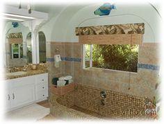 Custom tiled sunken tubs