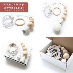 Indie-ish hanglamp woodbubbles wit  Indie-ish pendant amp WoodBubbles white