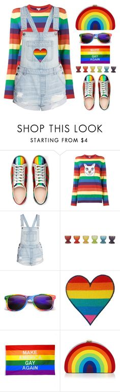 """""""Pride Month"""" by shoaleh-nia ❤ liked on Polyvore featuring Gucci, Loewe, Le Creuset and Milly"""