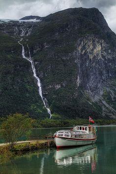 Loen Lake transport in Sogn og Fjordane county, Norway (by crowlem).  ☮k☮ #Norge