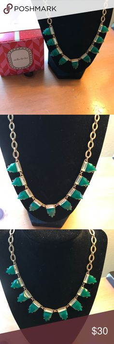 Stella and Dot necklace Eye candy! Beautiful emerald green eye candy necklace. Perfect condition. Adjustable length. Stella & Dot Jewelry Necklaces