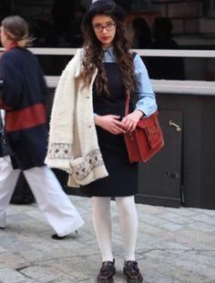 Streetstyle Dina from She loves mixtapes #londonFashionWeek #streetstyle #lfw