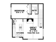 Parker studio apartment garage apartment floor plans for Studio above garage plans
