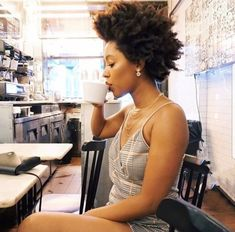 Morning cup of coffee ☕️. That hair though. Pelo Natural, Natural Hair Tips, Natural Hair Styles, Big Chop, Natural Hair Moisturizer, Type 4 Hair, 4c Hair, Moisturize Hair, Natural Hair Inspiration