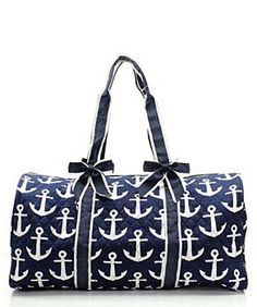 7b187e5ecfaa Personalized Quilted ANchor Navy Duffle Bag- Monogrammed Anchor Navy  Quilted Duffel Bag~ Embroidery Included