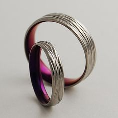 Titanium Wedding Bands , The Sphinx in Mystic Purple with Comfort Fit http://www.etsy.com/listing/59851664/titanium-wedding-bands-the-sphinx-in?ref=shop_home_active