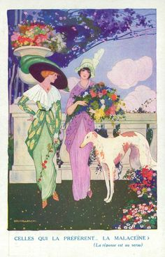 Brunelleschi gives us a couple of fabulous gals and their borzoi.