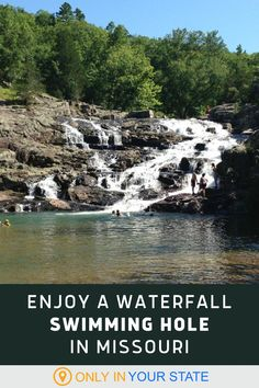 Enjoy a refreshing dip in a waterfall swimming hole this summer! This clear natural pool in Missouri is absolutely beautiful and a great way for nature lovers to cool off. Rv Travel, Summer Travel, Travel Destinations, Hidden Beach, Swimming Holes, Amazing Adventures, Travel Around, Vacation Spots, Trip Planning