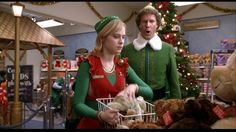 Zooey in Elf Free Christmas Movies, Best Holiday Movies, Christmas Music, Christmas Bulbs, Christmas Holiday, Zooey Deschanel, Elf 2003, Comedy, Elf Movie