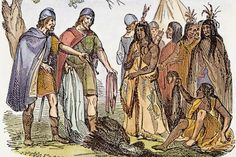 Vikings & Native American Indians - Geneticists have discovered 80 living Icelanders with mitochondrial-DNA (a type of DNA passed from mother to child) signatures similar to Native American Indians. The evidence suggests that this DNA entered the Icelandic bloodlines around AD 1000, which means that early Viking explorers and settlers to the New World may have brought at least one Indian woman back to Iceland with them. (from v.h.se)