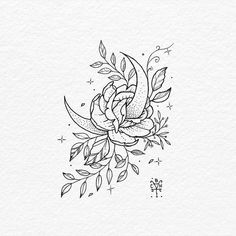 Pin by ally kennedy on ink tattoo designs, tattoo design drawings, tattoos. Moon Tattoo Designs, Tattoo Design Drawings, Tattoo Sketches, Art Drawings, Rose Tattoos, Body Art Tattoos, New Tattoos, Tatoos, Spine Tattoos