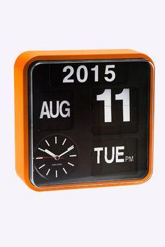 Karlsson - Mini horloge à déroulement de chiffres - Orange  Online Exclusives  €196