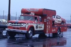Rainy Days Vintage Racing, Vintage Cars, Snake And Mongoose, Old Dodge Trucks, Car Carrier, Transporter, Drag Cars, Rally Car, Car And Driver