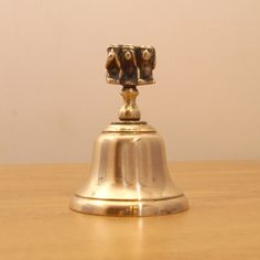 Vintage solid brass desk bell  Decorative handle with by UKAmobile