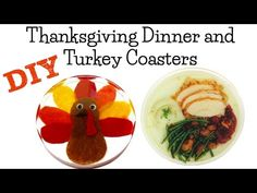 Turkey and Thanksgiving Dinner Coasters DIY ~ Another Coaster Friday - YouTube