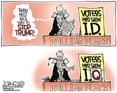 Political Cartoons of the Week: How to Stop Trump Political Satire Cartoons, Deep Art, Hilarious, Funny Shit, Funny Stuff, Funny Memes, Politics, Humor, Comics